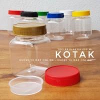 Toples Sambal / Bumbu 200 ml - Toples Jar Plastik 200ml (KOTAK/SQUARE)