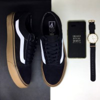 Sepatu Vans Old Skool Classic Black Gum BNIB Original Premium