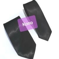 dasi hitam panjang pria polos import ukuran slim 2 inch dan 3 inch