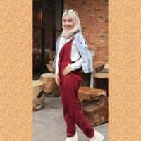 baju muslim wanita blouse overal jampsuit celana maxi jamsuit maroon