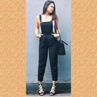 baju muslim wanita blouse overal jampsuit celana maxi jamsuit hitam