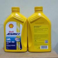 Shell Advance AX5 15/40 4T 1L (Dijamin Asli)
