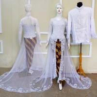 Kebaya Akad Couple Baju Pengantin Modern