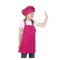 Apron Anak Polos + Topi Koki Tanpa Bordir Logo