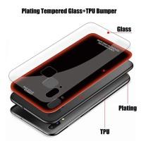 VIVO V11 PRO Plating Tempered Glass Back Door Soft Case Cover Casing