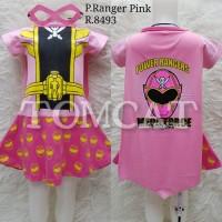 Dress Kostum Anak Cewek Power Rangers Pink Baju Karakter