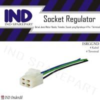 Socket-Soket Kiprok-Regulator 4 Kabel-Pin Suzuki Smash-R-New/Spin 125