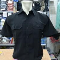 Kemeja Baju Seragam PDH PDL Lengan Pendek Hitam / Baju Outdoor Hitam