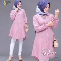 Dini Tunik/Baju Tunik Cewe/Baju Kerja Wanita -Warna Pink