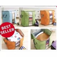 Bamboo Cloth Storage Bag Box Tempat Penyimpanan Selimut Bedcover