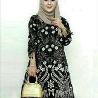 baju blous batik tunik rumput pakaian batik wanita