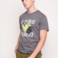Skelly Tuby Police Graphic T-shirt in Grey