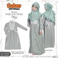 Baju Muslim Anak Gamis Imelda Mini Set Jilbab Bahan Katun Ori Thaluna