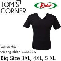 Kaos Dalam Pria Big Size   Jumbo 3XL 4XL 5XL   HITAM  EXTRA LARGE