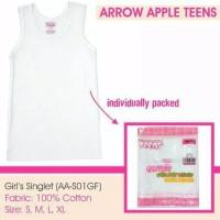 Kaos Singlet Anak Remaja Perempuan 10-17 tahun Arrow Apple Katun Putih