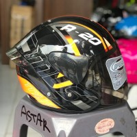 Helm Mvstar Sport 1 R 20 Orange ,not shoei ink kyt nhk agv
