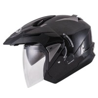 Helm INK T-Max Solid Hitam Double Visor Half Face