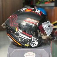 Helm Mvstar Sport 1 Magnum Red,not shoei ink kyt nhk agv