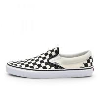Sepatu Sneakers Vans Checkerboard Slip On Black White Original VN000EY