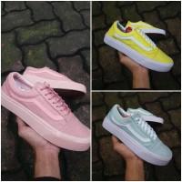 Sepatu Vans Old Skool Kuning, Biru Tosca Telur Asin, Roshe Peach Pink