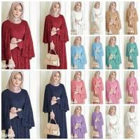 GB Maxi dress Brukat Pesta /Gamis Brukat /Baju Muslim Terbaru Regina