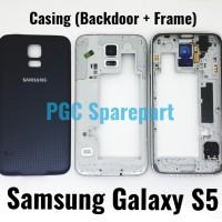 Casing Backdoor &Tulang Bezel Frame Samsung Galaxy S5 G900 G900F G900H