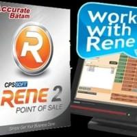 Software Program Aplikasi Kasir RENE POS 2 plus ACCURATE 4