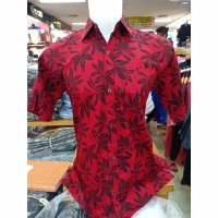 Baju/Atasan/kemeja merah Imlek Pria Dewasa/katun premium