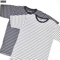 Baju Kaos Stripe Salur Belang - Hitam Putih