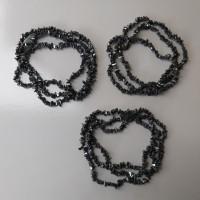 Manik-Manik Batu Pecah Onyx Hitam (1 Renteng)