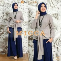 Busana Muslim/Baju Setelan Wanita/Kulot/Pasmina Micca