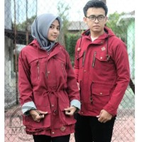Marajo Couple Kanvas Murah Parka Couple Jaket Couple Suplier Jaket 1 -