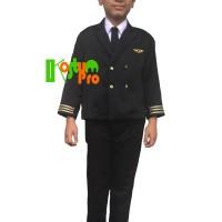 BAJU PILOT ANAK UK 4 (4-5 TAHUN) LENGKAP BAJU PROFESI KOSTUM KARNAVAL