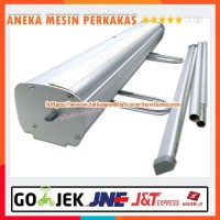 Stand Banner Gulung ROLL UP / ROLLUP Stainless Kaki Baja 60x160cm