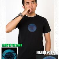 Kaos Baju Tony Stark ARC Reactor Glow In The Dark