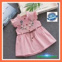 Baju/Pakaian Bayi/Anak Perempuan Bordir Bunga Impor Original