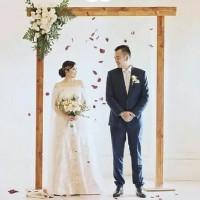 tiang backdrop 2m x 2m lipat termurah wooden backdrop new mode 2020