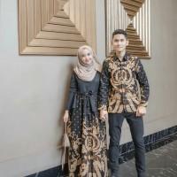 Batik Couple / Batik Sarimbit Gamis Kemeja Panjang Rizky Nazar