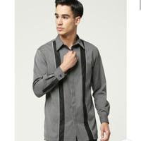 baju koko shafira - menswear semi formal dark grey