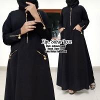 abaya gamis hitam arab jetblack ori saudi ZIPPER SAKU LOVE