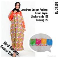 Daster batik lengan panjang / baju tidur daster rayon soloan motif