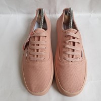 Sepatu Vans Authentic Mono Soft Pink Grade Ori ! - Merah Muda, 36