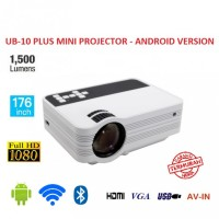 UB-10 Plus Mini LCD Projector Android 1500 Lumens - WiFi and Bluetooth