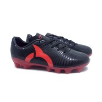 Sepatu Bola Anak Ortuseight Forte Helios FG JR (Black/Ortred)