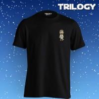 Kaos Premium Brand TRILOGY Movie Star Wars Chibi Obiwan Kenobi Tshirt