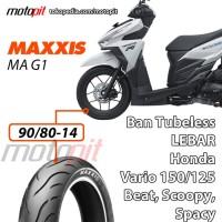 Maxxis MA G1 90/80-14 Ban Depan Lebar Honda Vario 150 125 Beat FI