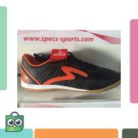 Bagus - Sepatu futsal specs horus black orange 2015 original 100%