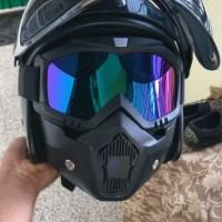 topeng ninja masker nontor google googles mask kacamata helm KLX cross