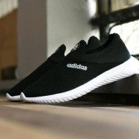 promo Sepatu Sport Santai Adidas Slip On Slop Hitam Putih Tanpa Tali