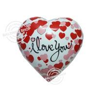 Balon Foil Love Motif I Love You / Balon Foil Hati Motif I Love You